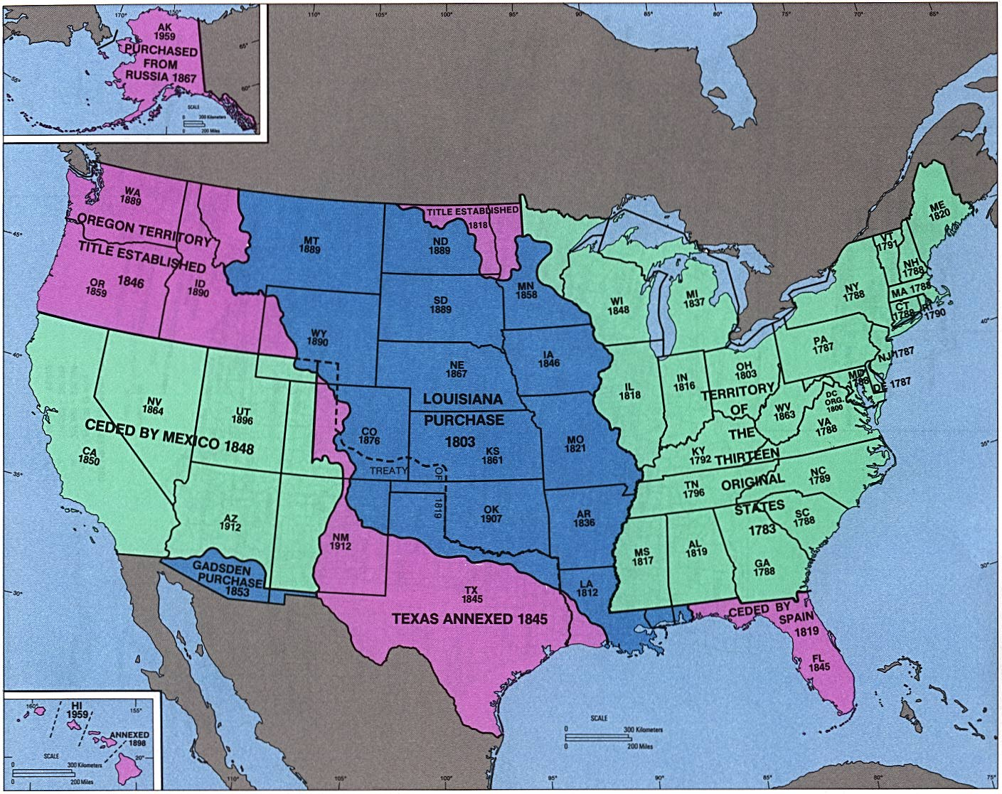 Ch Nationalism - Map of the us in the 1800s